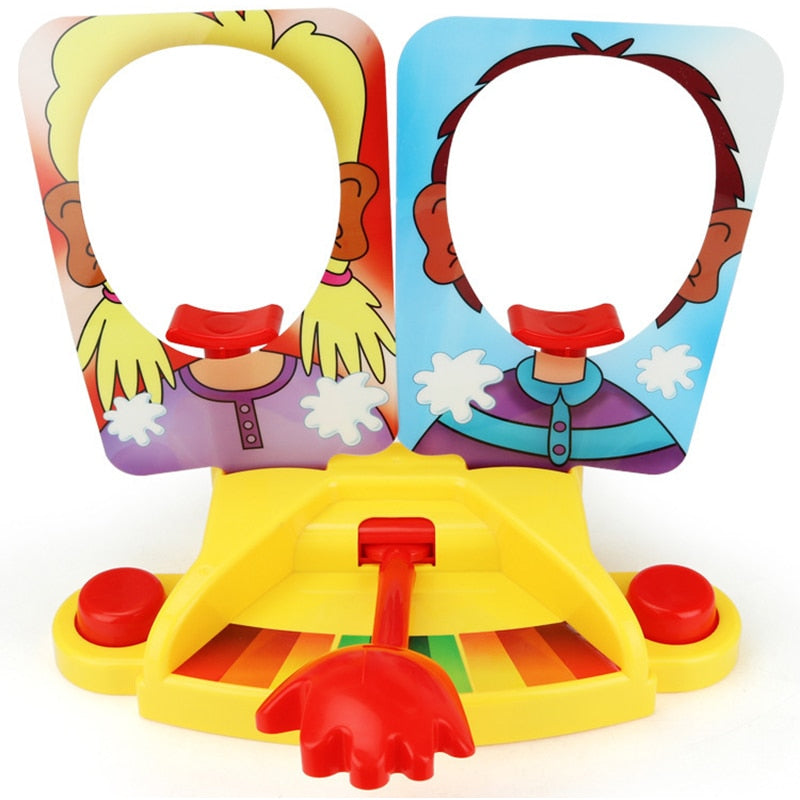 Costbuys  Double Person Toy Cake Cream Pie In The Face Anti Stress Toy for kids Party Fun Game Funny Gadgets Prank Jokes for kid