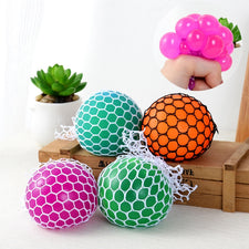 Anti Stress Face Reliever Grape Venting Ball Autism Mood Squeeze Relief Toy Novelty Funny Gadgets Gift