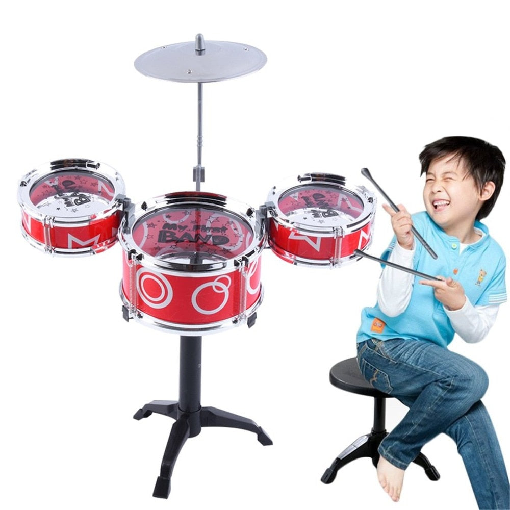 Costbuys  Drum Mini Baby Infant Jazz Rock Set Musical Instrument Educational Kids Early Learning Simulation Musical Drum