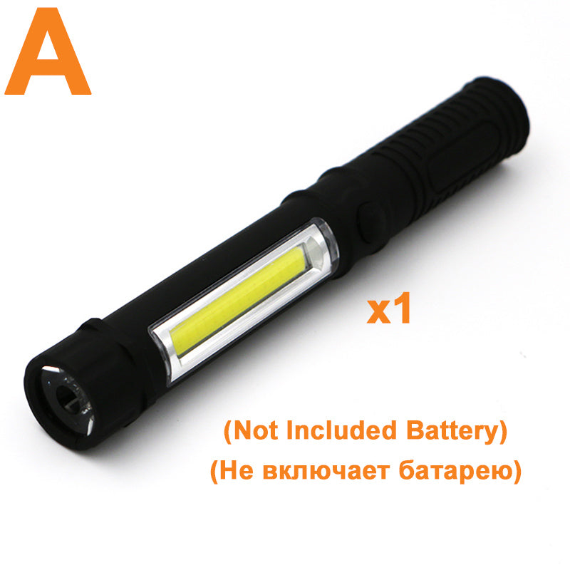 Costbuys  E Set CREE XM-L T6 8000LM LED Flashlight COB Multifunction Tactical Torch Light Handheld flashlights for Home DIY Work