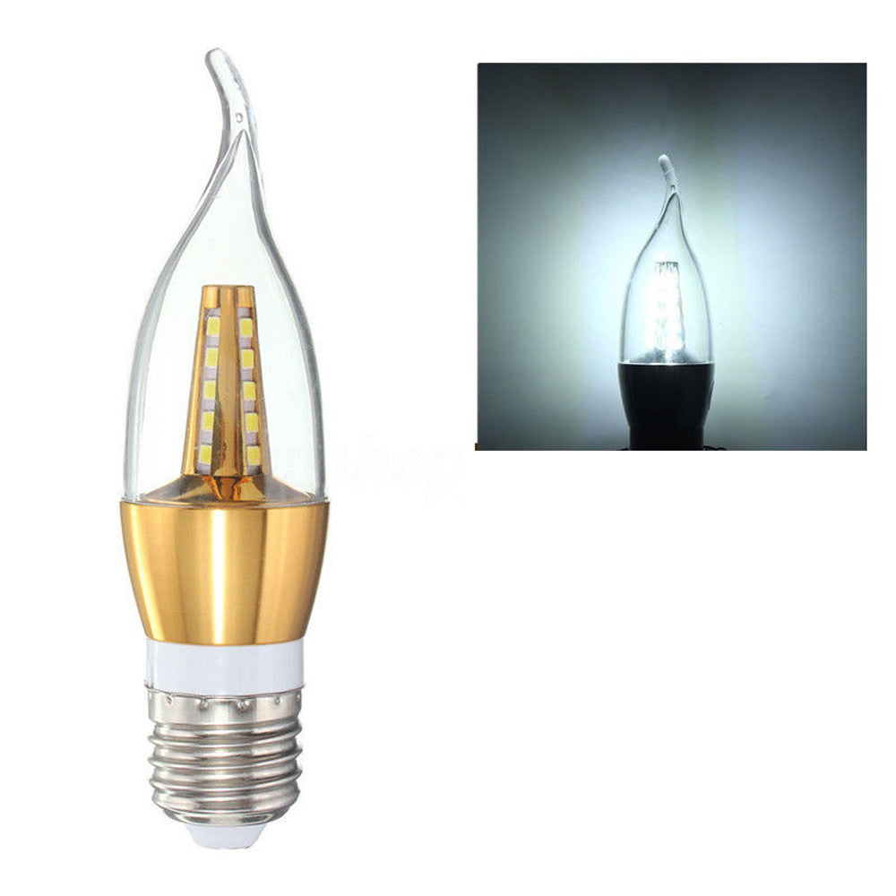 Costbuys  E27 2835SMD LED Chandelier Candle Flame Light Bulb Lamp 220V Retro Filament LED Bulb Lamp Candle Light Chandelier Nigh