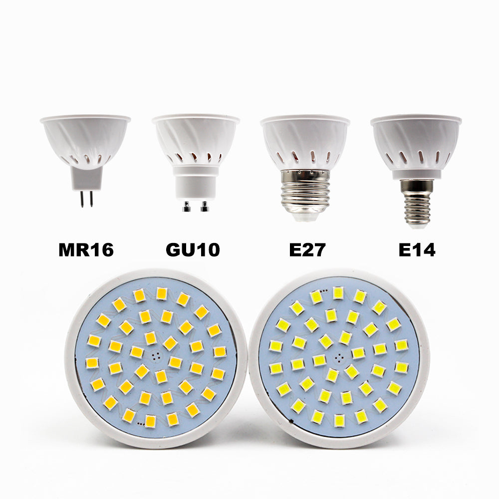 Costbuys  E27 E14 LED Lamp 220V MR16 GU10 LED Bulb LED Spotlight Bulbs Lampada 36/60/80LEDs SMD 2835 Chandelier For Indoor Home