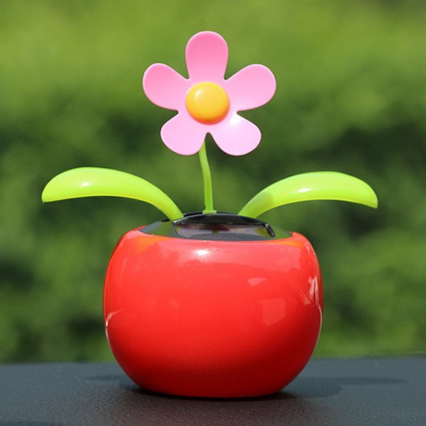 Costbuys  EAFC Car Decoration Solar Powered Dancing Flower Swinging Animated Dancer Toy Sunflower Car Decoration New Car Funny T
