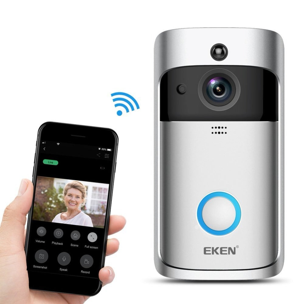 Costbuys  EKEN Remote Control Video Doorbell 2 720P HD Wifi Wireless Smart Home Realtime Two Way Audio Night Vision PIR Motion D