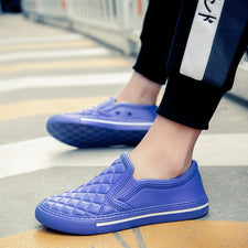 Nice Home Summer Slippers Men Shoes,Floor Indoor and Outdoor PVC Funny Beach Soft Light Slipony Loafers Man
