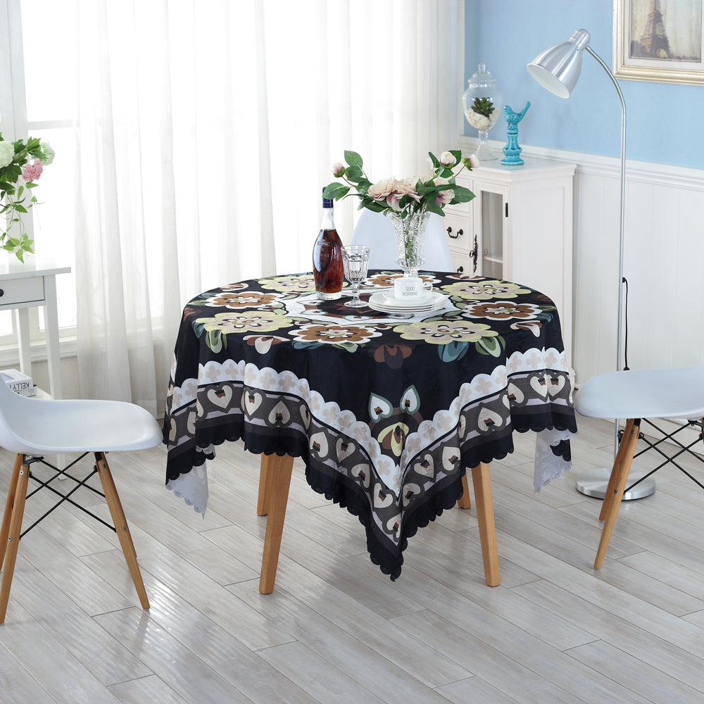 Costbuys  Eco-friendly Black Creative Table Cloth Home Wedding Table Tablecloth Creative Customized Acceptable Table Cloth ZH-7