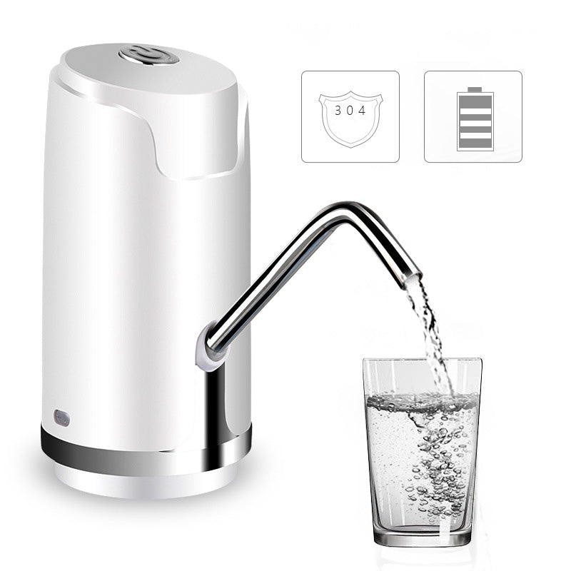 Costbuys  Electric Water Bottle Pump Dispenser With Suction Unit Bottled USB Water Dispenser For Drinking Water Bottles Home Gad