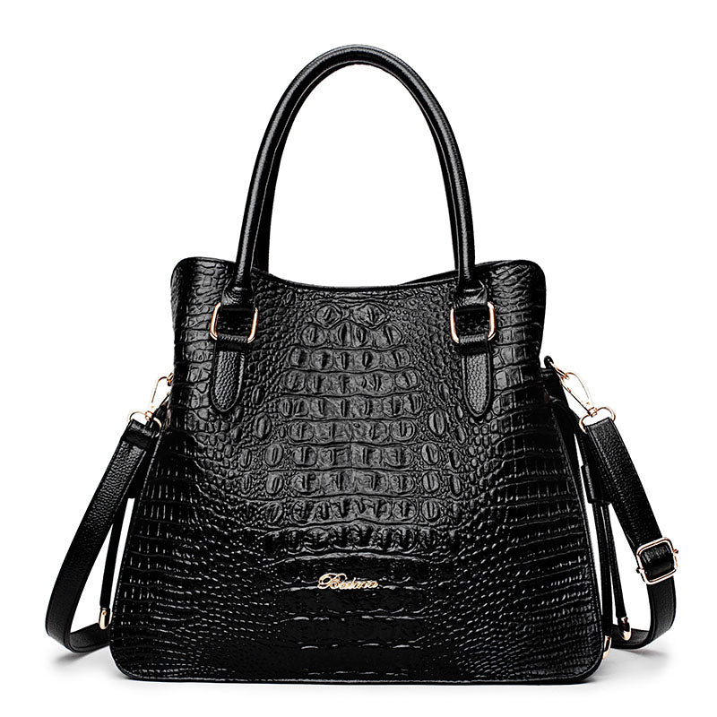 Costbuys  Embossed Alligator Tote Bag Fashion Top-handle Bags Womens Leather Handbags High Quality Designer Shoulder Bags Purses