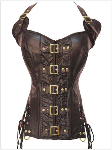 cf6b2385661bb Sexy gothic Steampunk Corset Top Waist shaper tops buckle Strap Corselet  Women Gothic Overbust