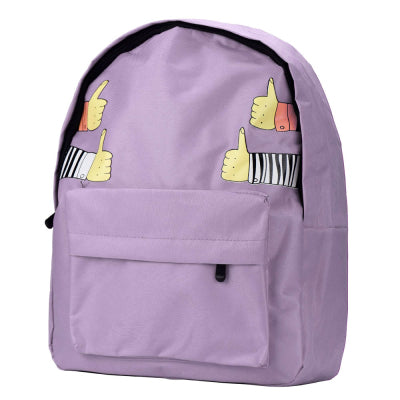 Costbuys  Women Backpack for School Teenagers Girls Vintage Stylish Ladies Bag Backpack Female Purple Dotted Printing High Quali
