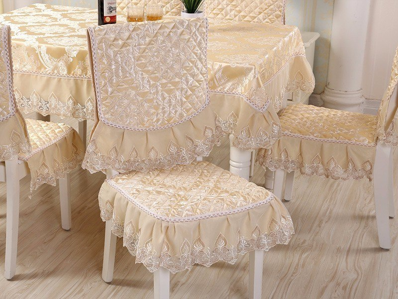 Costbuys  Europe Table Cloth Size 130x180cm Chair Cover Seat Cushion Set Home Hotel Party Banquet Tablecloth Wedding Decoration