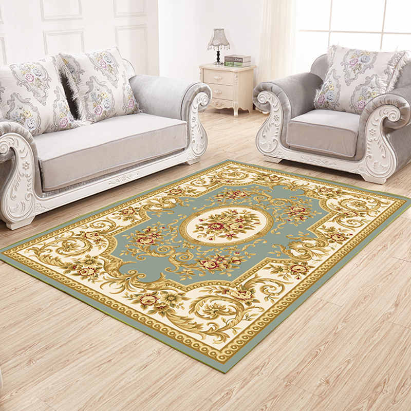 Costbuys  European Style Rug for living room Area Rugs Jacquard Textile Carpet Modern Home Decor Bedroom Tea Table Anti-Slip Flo