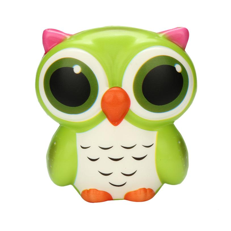 Costbuys  Exquisite Fun Adorable Owl Squishy Slow Rising Cartoon Doll Cream Scented Stress Relief Toy Antistress Toys For Adult