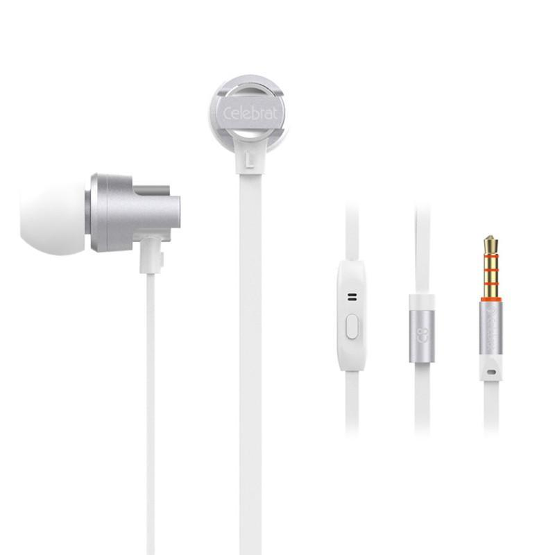 Costbuys  6S Wired Earphones with Mic Microphone for Phone In-Ear Headsets Standard Stereo Earbuds for Iphone Samsung Huawei - W