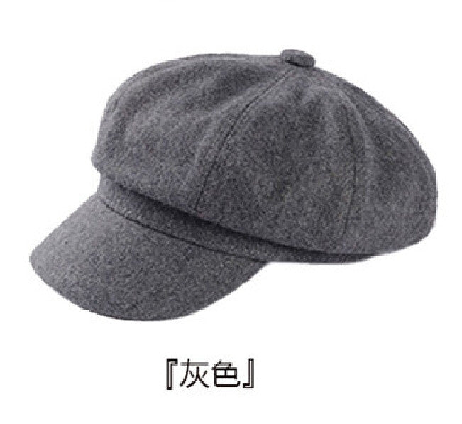 86be22edc5a Artist Wool Women Beret Hat For Women Cap Female Cap Casual Dome Bare