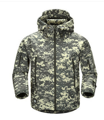 Costbuys  Outdoor Sport Tactical Military Jacket Men's Clothing For Camping Hiking Softshell Windproof Warm Coat Hunt Clothes -