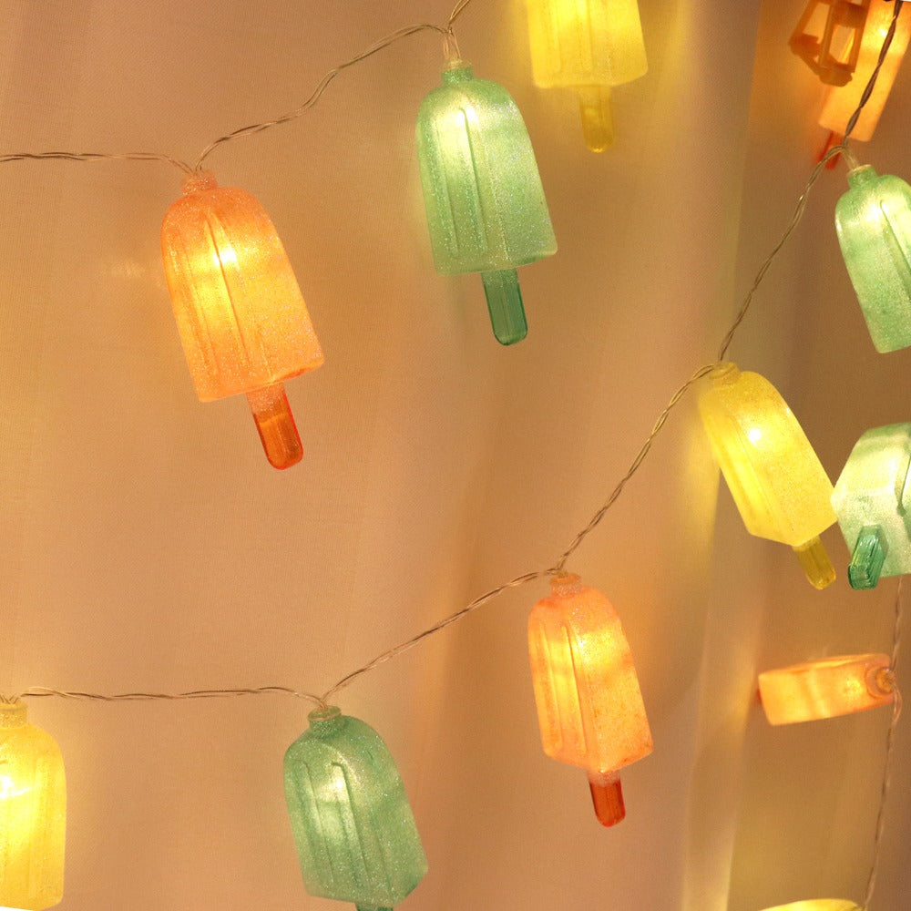 Costbuys  Fairy Ice Cream Garland 20 LED String Lights Outdoor Garden Wedding Party Decorative Summer Holiday Lighting Battery P