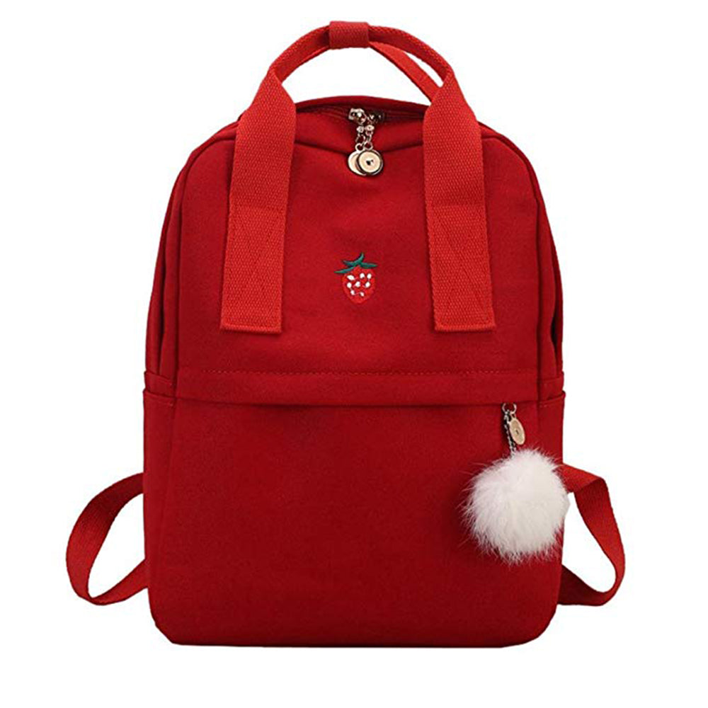 Fashion Casual Teenager Canvas Backpack Women cute Printed Student Girl School bookBag mochila escolar Hairball Satchel Backpack