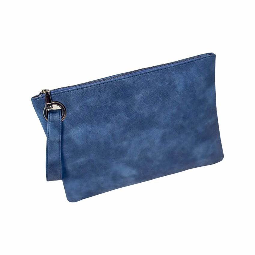 Costbuys  Fashion Day Clutches women clutch bag leather women envelope bag clutch evening bag female Clutches Handbag - Blue