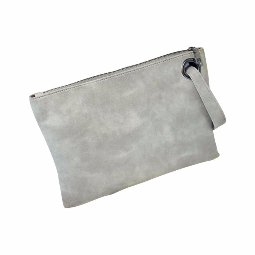 Costbuys  Fashion Day Clutches women clutch bag leather women envelope bag clutch evening bag female Clutches Handbag - Gray