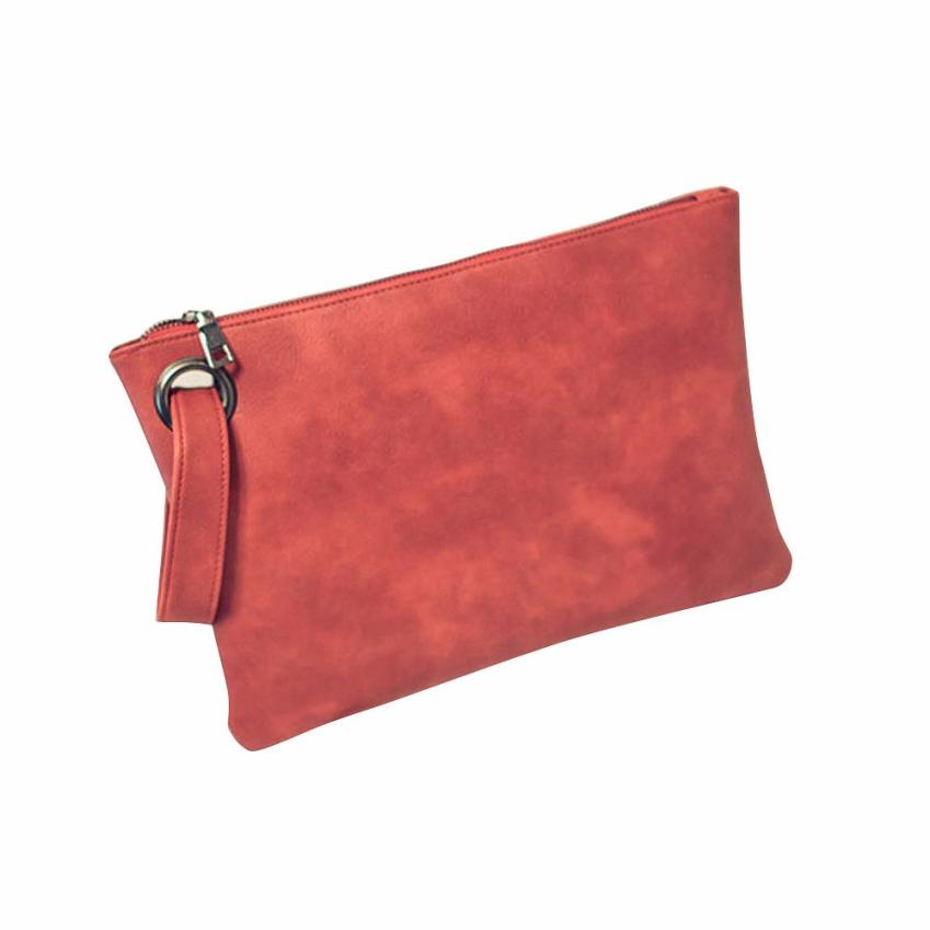 Costbuys  Fashion Day Clutches women clutch bag leather women envelope bag clutch evening bag female Clutches Handbag - Red