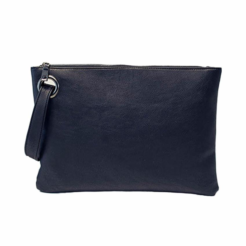 Costbuys  Fashion Day Clutches women clutch bag leather women envelope bag clutch evening bag female Clutches Handbag - Black