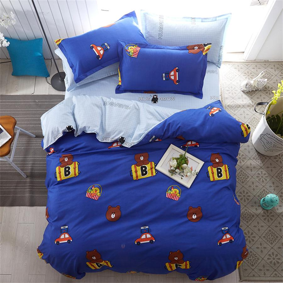 Costbuys  Fashion Expression Show 3/4pcs bedding sets for kids bed linen Duvet Cover Bed sheet Pillowcase Set,twin full queen Ki