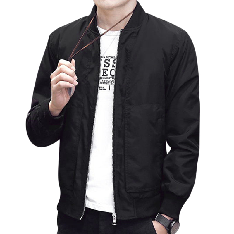 Fashion Men Bomber Flight Jackets Coats Winter Male Casual Zipper Stand Collar Jaqueta Masculina Men Outwear Overcoat Jacket