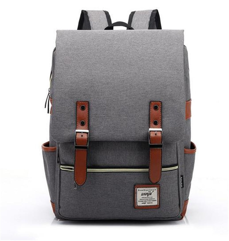 Costbuys  Fashion Men Canvas Backpack Women Large Capacity Computer Backpacks for Laptop Casual Student School Bag Daily Travel