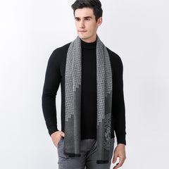 Fashion Men Scarves Casual Scarves winter Men's Cashmere Scarf luxury Warm Neckecheif Scarves Bussiness