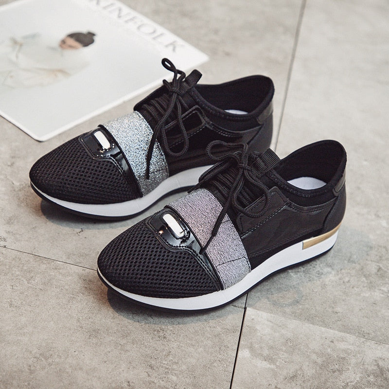 f711b7058594 Sneakers for Women Casual Shoes Summer Spring Flat Mesh Shoes Women s Flats  Breathable