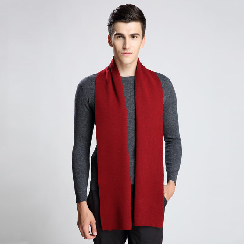Fashion Winter Men Scarf Thicked Warm Man's Wool Blend Scarf Solid Scarf For Man Winter Autumn Scarf