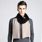 Fashion Winter Men Scarf Thicked Warm Man's Wool Scarf Contrast Color/ England Plaid Scarf For Man