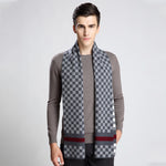 Fashion Winter Men Scarf Thicked Warm Man's Wool Scarf Plaid Scarf For Man Winter Autumn Scarf