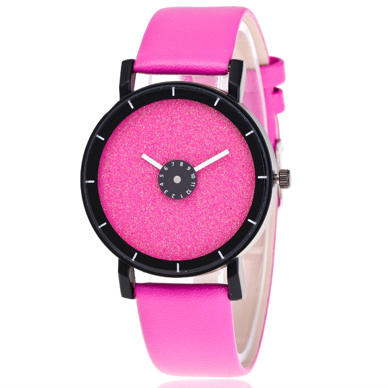 Costbuys  Fashion couple watches soft leather student watches men and women sports watches leisure watches cute luminous watches