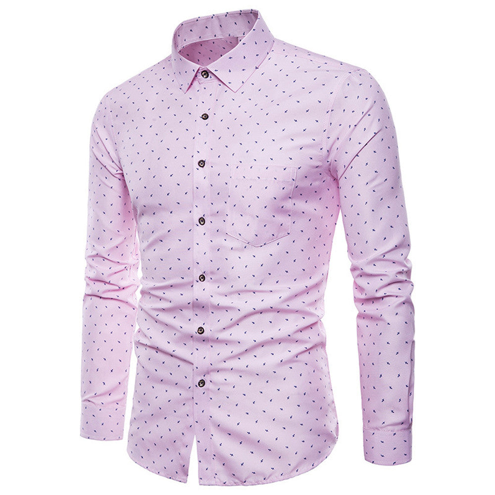 Costbuys  Men long sleeve shirt Mens Long Sleeve Oxford Formal Casual Suits Slim Fit Tee Dress Shirts Top male shirt chemise hom
