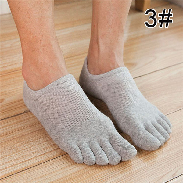 Costbuys  Five Finger Toe Socks Men Fashion Breathable Cotton Nonslip Socks Anti-skid Calcetines No Show Short Invisible Socks -