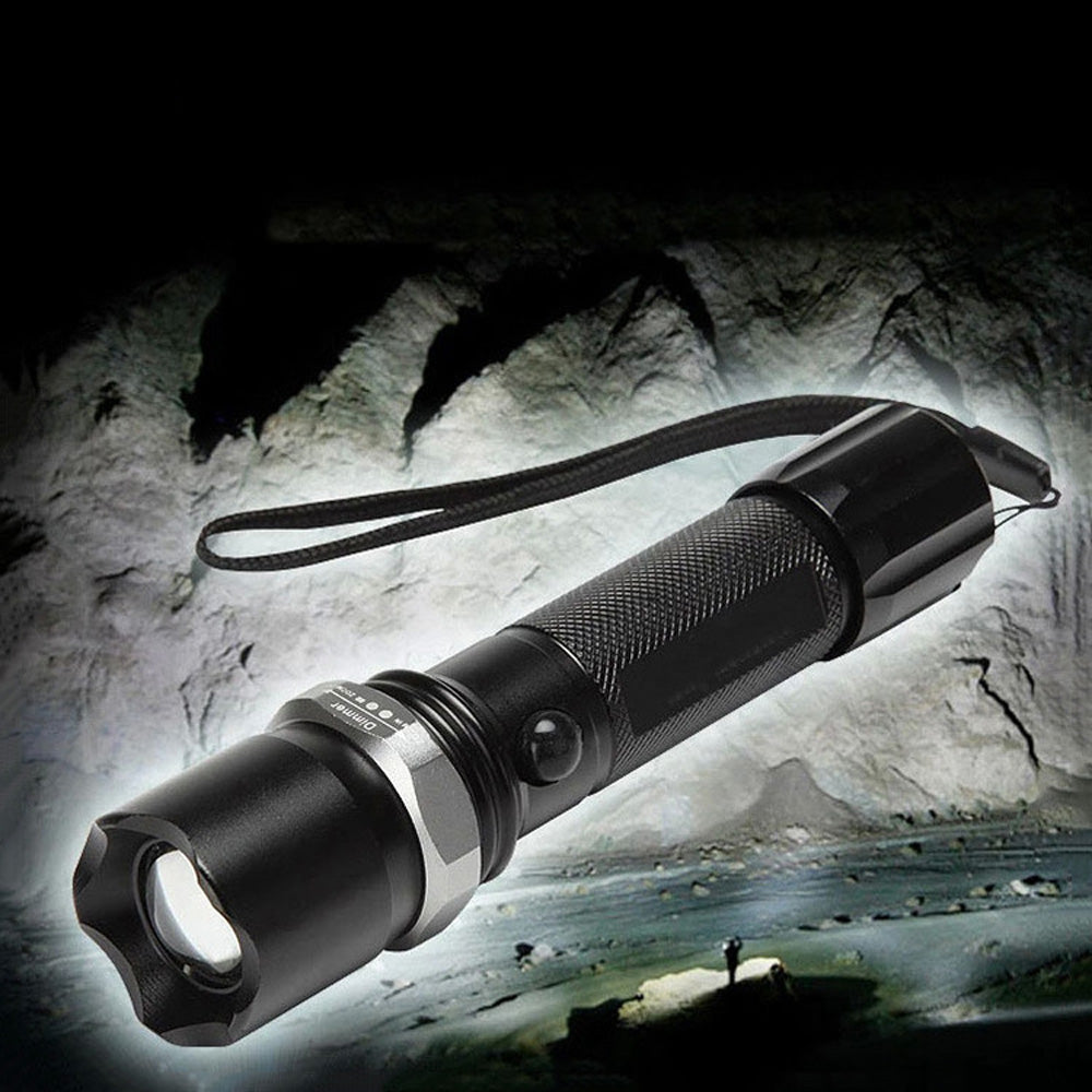 Costbuys  Flashlight Set LED Flashlight Waterproof Linterna zoomable 18650 Battery Rechargeable flashlight LED Torch LED Zaklamp