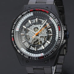 Black Dial Designer Watches Automatic Mechanical Watch Men Luxury Brand Erkek Kol Saati Skeleton Men's Watch Clock