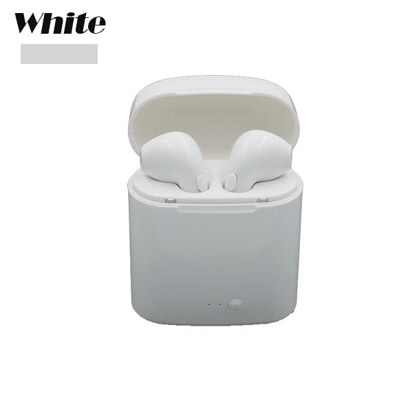 Costbuys  Bluetooth Headphone Wireless Headphone Headsets Stereo In-Ear Earphones With Charging Box for ios and Android - White