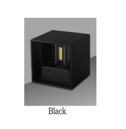 Costbuys  LED Wall Light Indoor Lighting IP45 Modern Brief Cube Adjustable 10W 12W COB LED Wall Lamp Aluminum Wall Light - Black