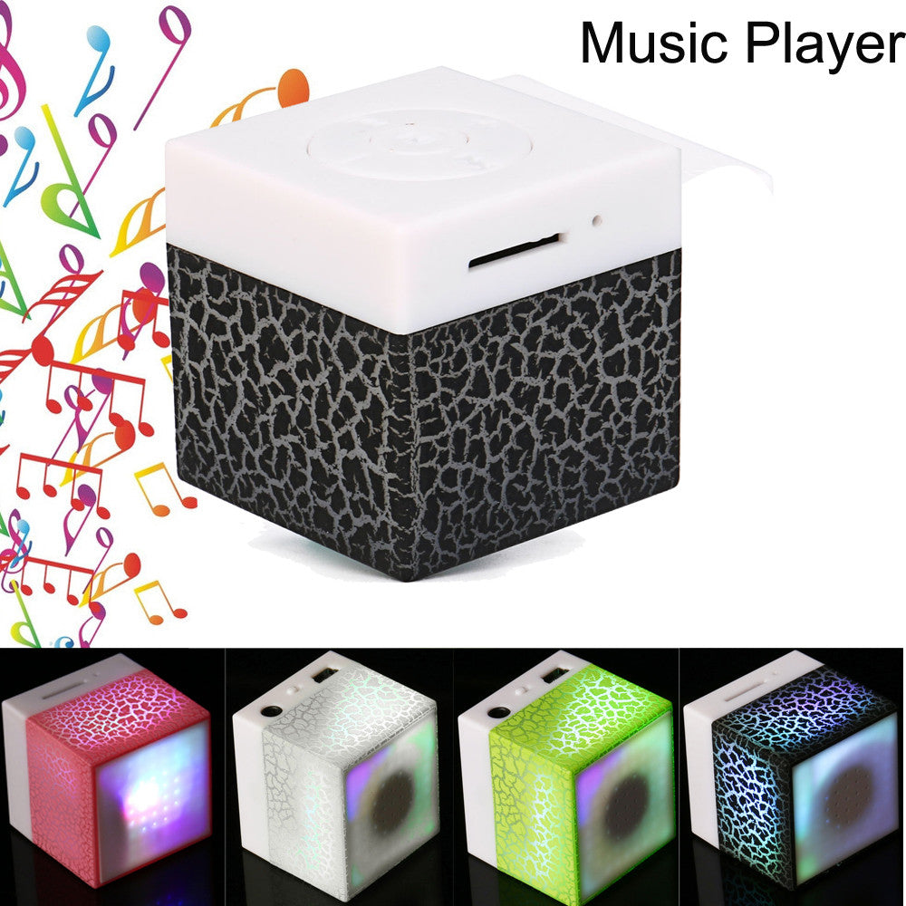 Costbuys  Portable USB Mp3 Player Mini Stereo Bass MP3 Music Player Support TF/Micro SD Card Wireless MP3 Speaker - Pink / Other