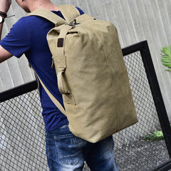 large capacity travel shoulder bag outdoor sports bag multi-functional military canvas backpack