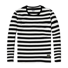 New spring  Winter Long sleeve stripped shirts fashion cotton O neck classical T-shirt  TL3504