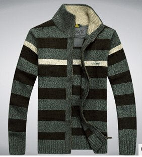 Costbuys  Free shipping Men of 2018 autumn winters cardigan sweater fashion men's knitted sweater 55cy - Green / XL