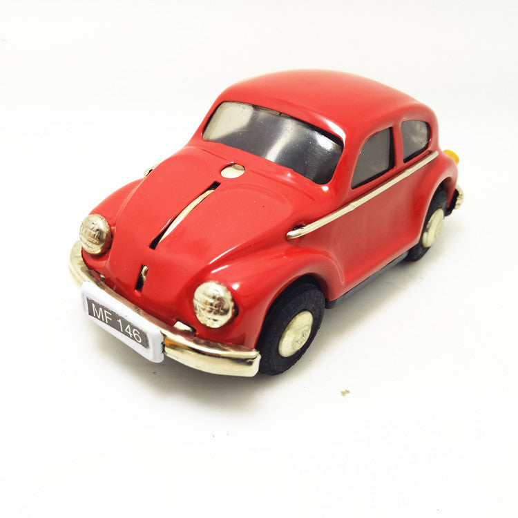 Costbuys  [Funny]  Adult Collection Retro Wind up toy Metal Tin The Beetle car Mechanical toy Clockwork toy figures model kids g