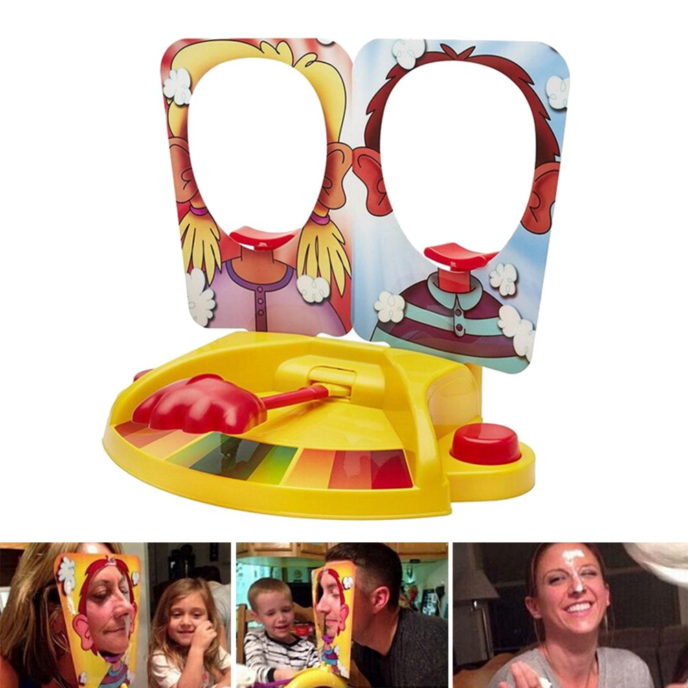 Costbuys  Funny Double Person Toy Cake Cream Pie In The Face Anti Stress Toy for kids Party Fun Game Prank Jokes for kids Gift 1