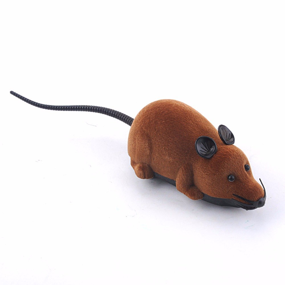 Costbuys  Funny Wireless Remote Control Rat Mouse Kids Toys Novelty Simulation Plush RC Electronic Mouse Pet Gifts For Children