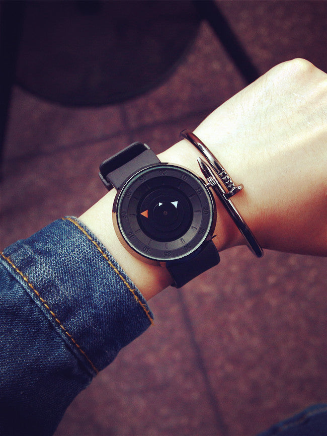 Costbuys  Futuristic luxury men women black white watch fashion casual military quartz brand sports watches silicone lovers wris