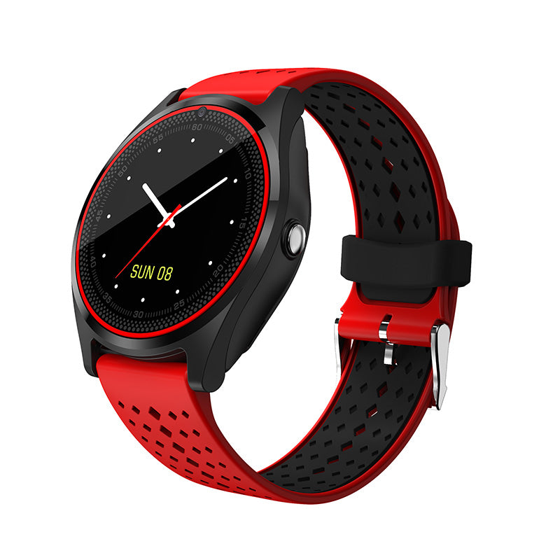 Costbuys  Smart Watch SIM Card Wristwatch for Android iPhone IOS Women Men Stop Watch Camera Sport Dial Call Clock - Red